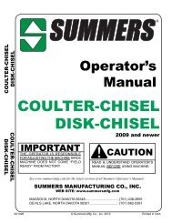 Coulter-Chisel & Disk-Chisel - Summers Manufacturing, Inc.