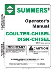 COULTER-CHISEL DISK-CHISEL - Summers Manufacturing, Inc.