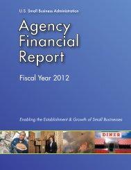 Agency Financial Report FY 2012.pdf - SBA