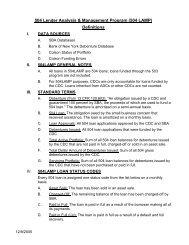 504 Lender Analysis & Management Program (504LAMP) - SBA.gov