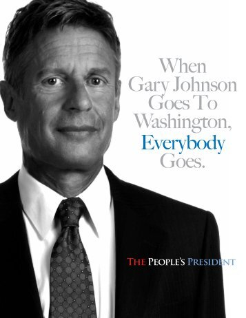 ThE PEOPlE'S PRESidENt - Gary Johnson