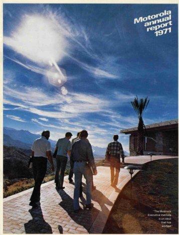 1971 Motorola Annual Report - Motorola Solutions