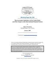 Macroeconomic imbalances in the U - Levy Economics Institute of ...