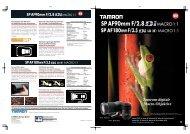 Tamrons digitale Macro-Objektive - Blende7