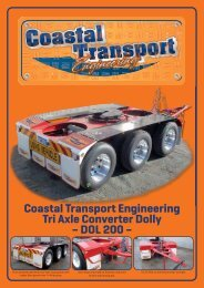 CTE Tri Axel Dolly.indd - Coastal Transport Engineering