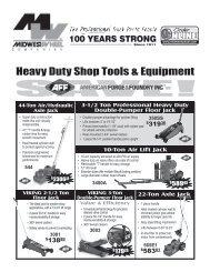 Heavy Duty Shop Tools & Equipment - Midwest Wheel Companies