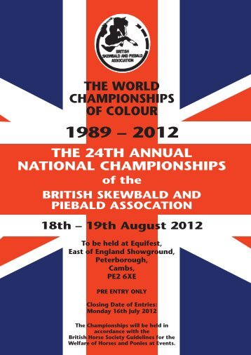 BSPA Schedule 2012.pdf - British Skewbald and Piebald Association