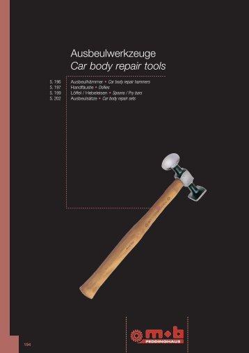 Ausbeulwerkzeuge Car body repair tools - Peddinghaus