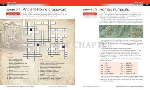 Ancient Rome Crossword Roman Numerals Oxford University Press