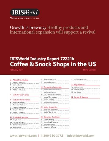Coffee & Snack Shops in the US - HarmonyHouse - home