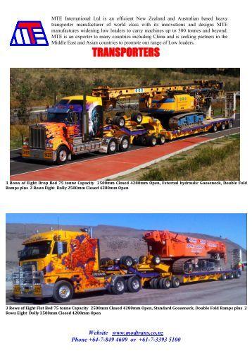 MTE International Ltd is an efficient New Zealand based heavy ...
