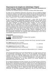 Bericht Thurgauer Zeitung - Hunziker Leutenegger Treuhand AG