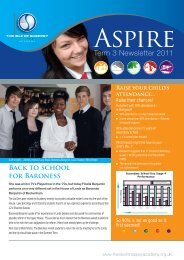 Term 3 Newsletter 2011 - The Isle of Sheppey Academy