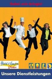 Unsere Dienstleistungen - Hotel & Gastro Union