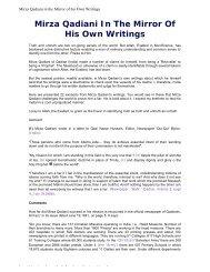 Mirza Qadiani In The Mirror Of His Own Writings - Hoor al-Ayn