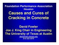 Causes and Cures of Cracking in Concrete - Foundation ...