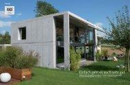 Reportage «Das Einfamilienhaus» (PDF 2 Mb) - Pewihaus