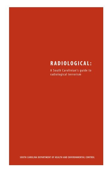 RADIOLOGICAL: - Department of Health and Environmental Control