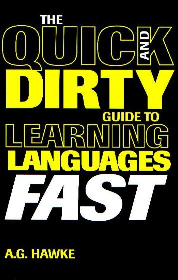 The Quick & Dirty Guide to Learning Languages - Marshalls University