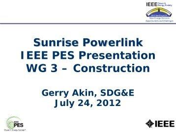 Sunrise Powerlink - Ieee-tpc.org