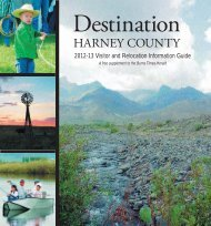 Destination Harney County 2012.indd - Burns Times Herald