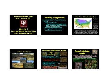 Plant List 3 - Aggie Horticulture - Texas A&M University