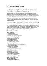 SPD nominiert Liste für Kreistag - (SPD) Kreisverband Hof/Land