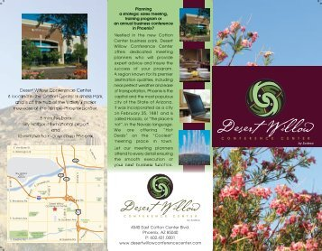 Download Our Brochure - Desert Willow Conference Center