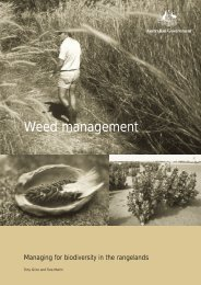 Weed management - Managing for biodiversity in the rangelands ...