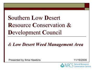 Southern Low Desert Resource Conservation & Development Council