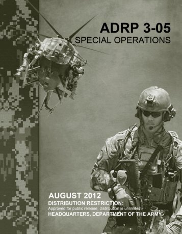 (ADRP) 3-05, Special Operations - Army Electronic Publications ...