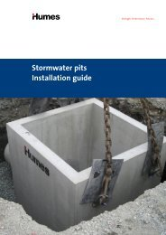 Stormwater pits Installation guide - Humes