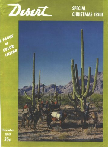 PECIAL CHRISTMAS ISSUE - Desert Magazine of the Southwest