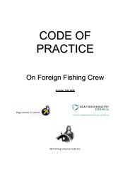 Code of Practice on Foreign Fishing Crew - Immigration New Zealand