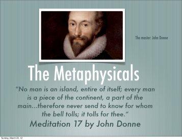 Meditation 17 by John Donne - Jenks Public Schools