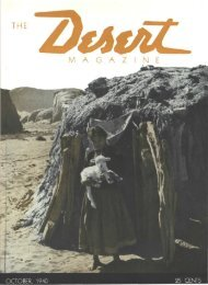 THE M A G A Z I N E - Desert Magazine of the Southwest