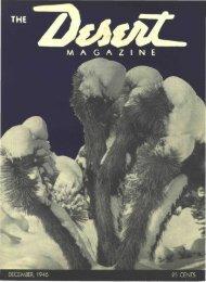 M A G A Z I N E - Desert Magazine of the Southwest