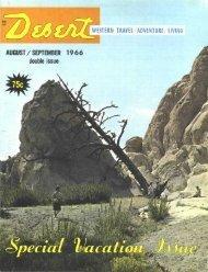 AUGUST/SEPTEMBER 1 9 6 6 double issue - Desert Magazine of ...
