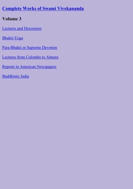 swami vivekananda complete works