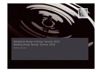Bettwäsche Design Frühling/ Sommer 2010 Bedding ... - Best Line