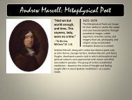 Andrew Marvell: Metaphysical Poet