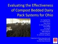 Evaluating the Effectiveness of Compost Bedded Dairy Pack - Ohio ...