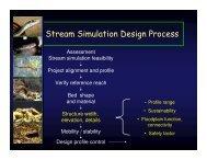 Stream Simulation Design Process - USDA Forest Service