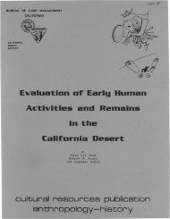 Evaluation of Early Human Activities and Remains in the California ...