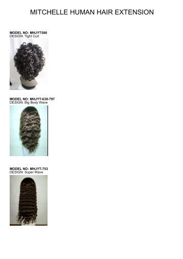 Full lace wig grade A stock list - Mitchelle Mercantile Limited