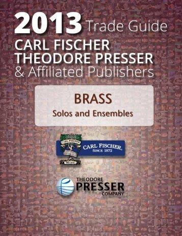 Solos and Ensembles - the Theodore Presser Company