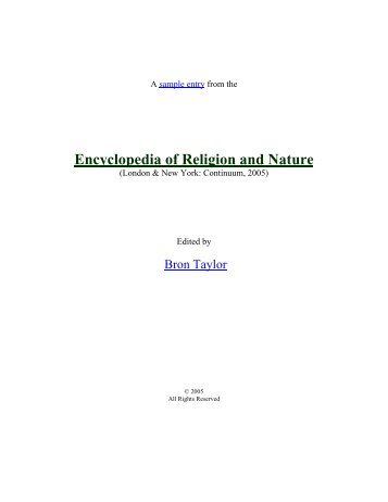 Darwin, Charles - Religion and Nature