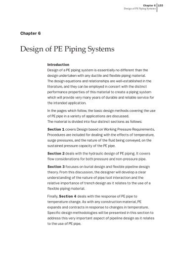 Chapter 6 - Design of PE Piping Systems - Plastics Pipe Institute