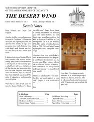 THE DESERT WIND - Southern Nevada Chapter of the American ...