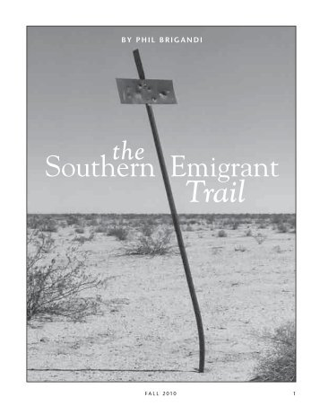 The Southern Emigrant Trail - Southern Trails Chapter